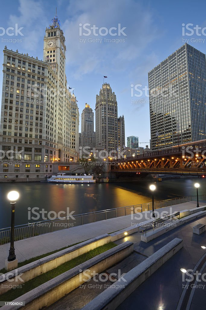 Chicago Riverside. stock photo