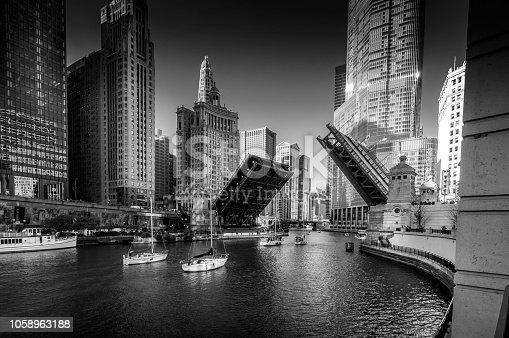 Bridges buildings and boats
