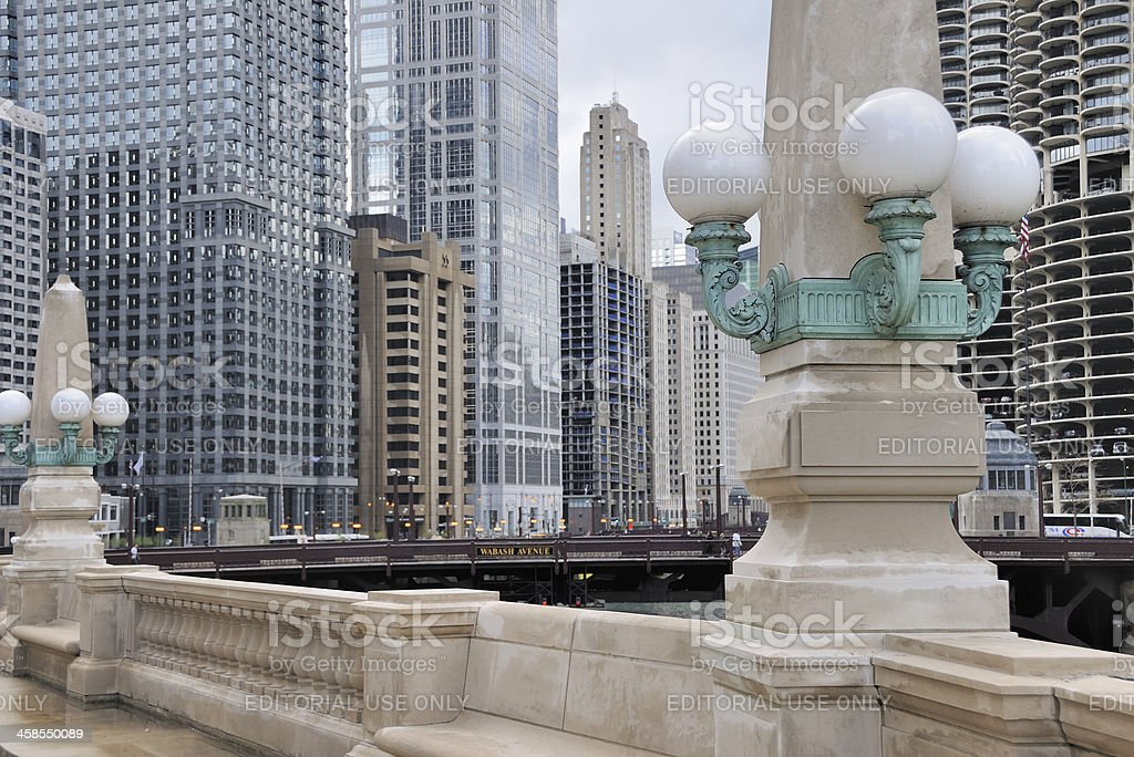 Chicago Riverwalk stock photo