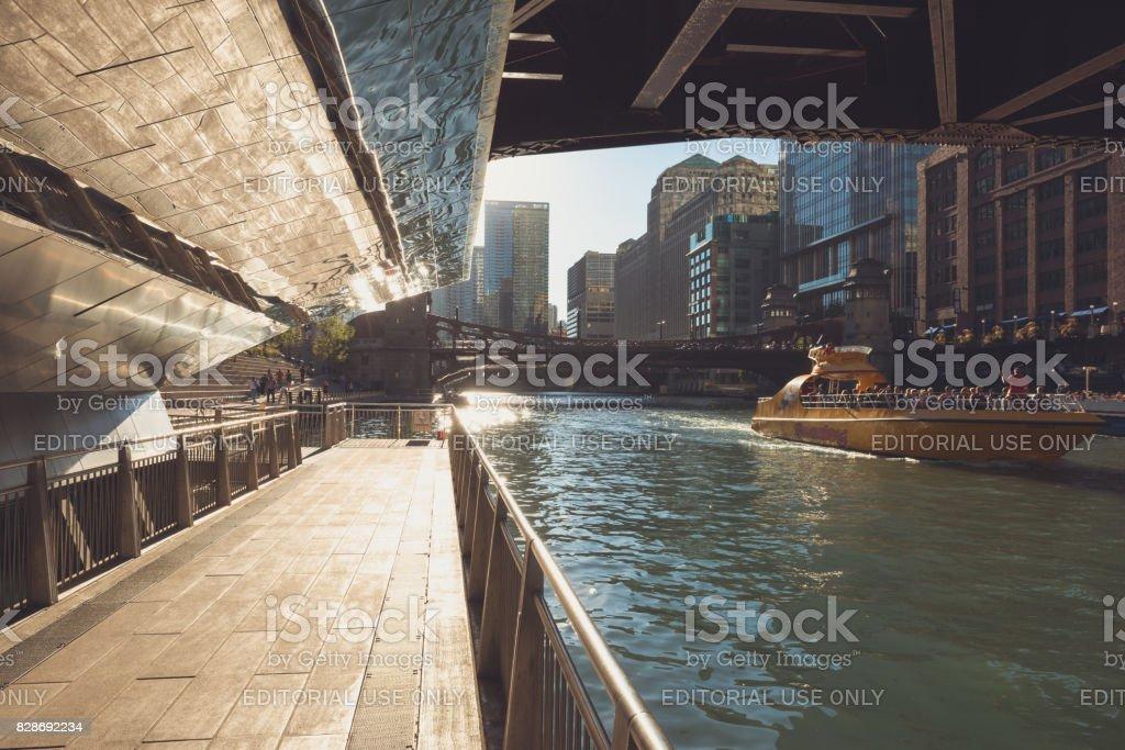 Chicago Riverwalk stock photo