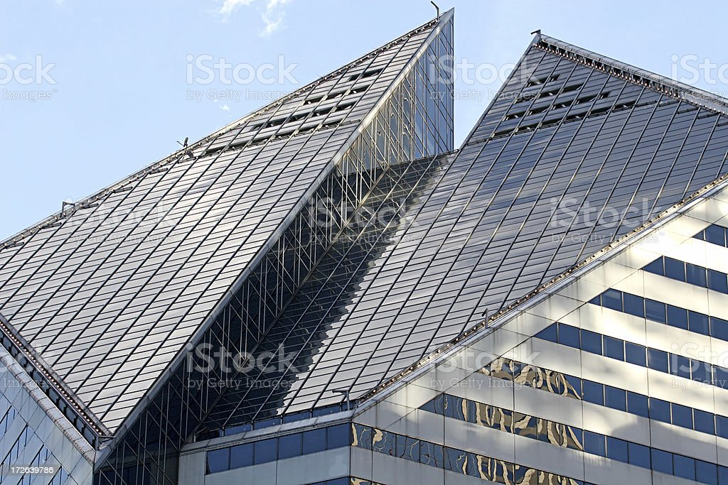 Chicago Rooftop royalty-free stock photo