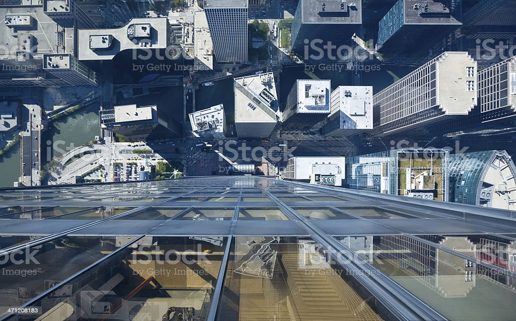 Chicago Rooftops stock photo