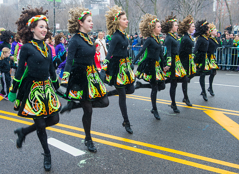 Chicago , USA - March 16, 2013 :  Irish dancers participate at the annual Saint Patrick's Day Parade