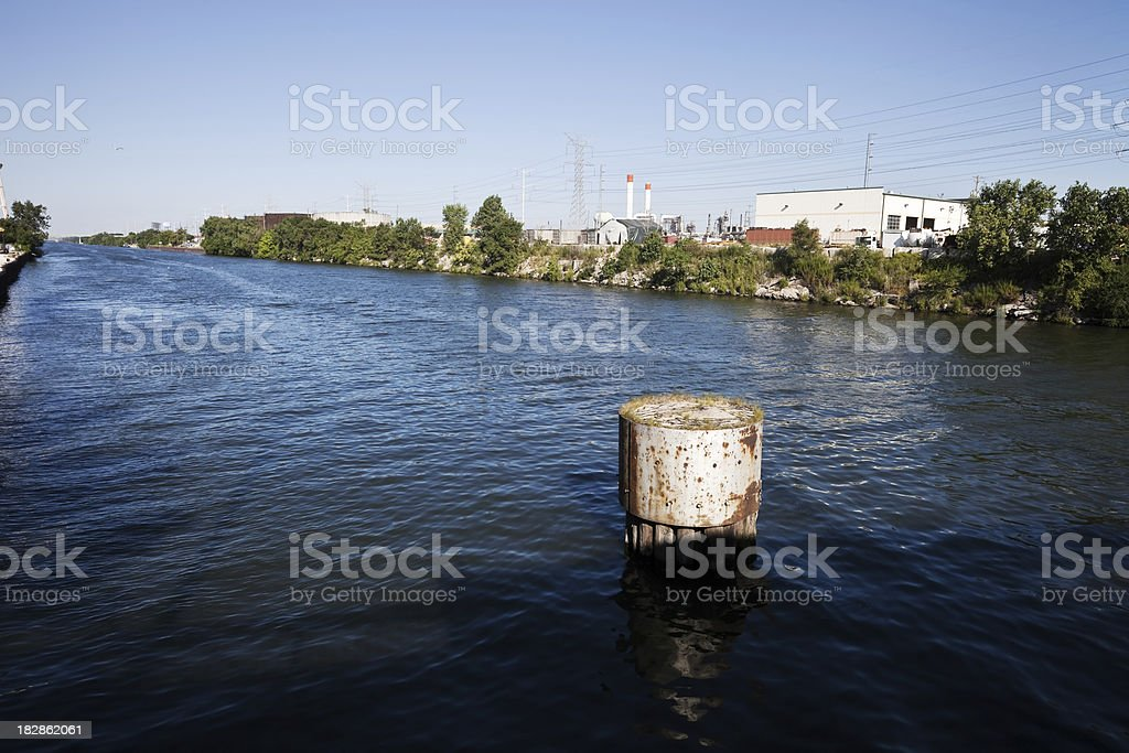Chicago Sanitary and Ship Canal royalty-free stock photo