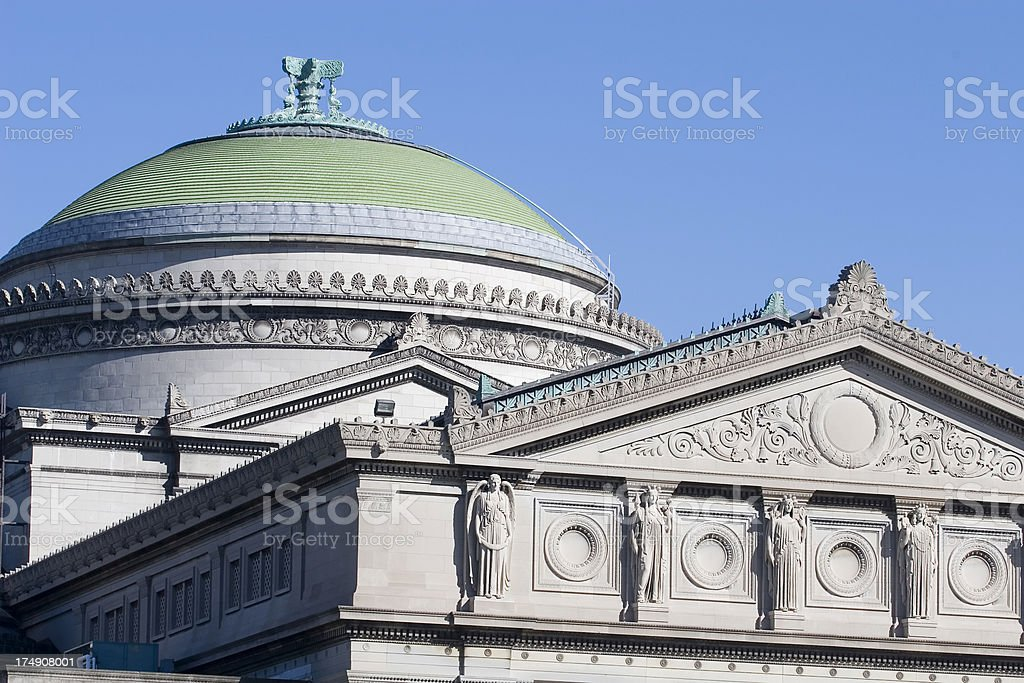 Chicago Science Museum Dome royalty-free stock photo