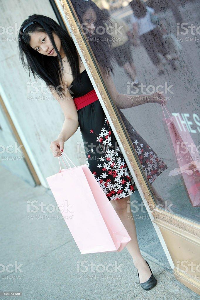 Chicago Shopper royalty-free stock photo