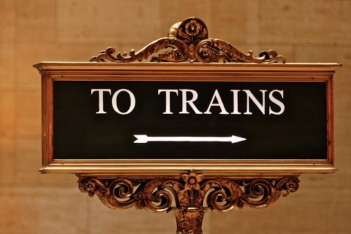 Chicago Signalitique Panneau Trains Union Station Stock