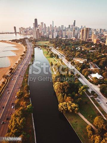 852738732istockphoto chicago skyline aerial view 1142855568