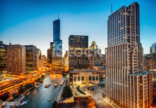istock Chicago Skyline Aerial View 513100721