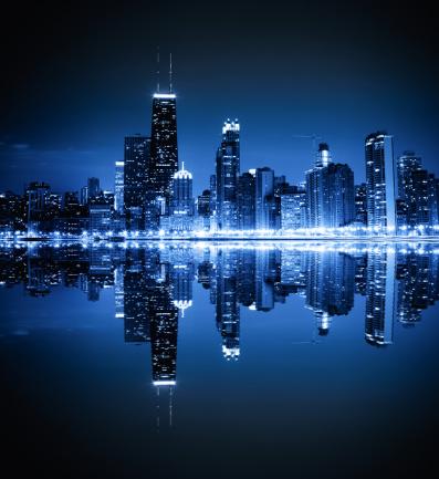 Chicago skyline by night [url=/search/lightbox/6697961][IMG]http://farm3.static.flickr.com/2651/3807631533_7219cd7572.jpg[/IMG][/url]