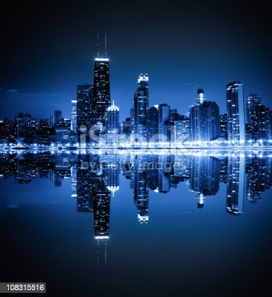 Chicago skyline by night [url=/search/lightbox/6697961][IMG]http://farm3.static.flickr.com/2651/3807631533_7219cd7572.jpg[/IMG][/url]
