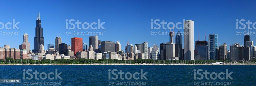 Chicago Skyline, Illinois royalty-free stock photo