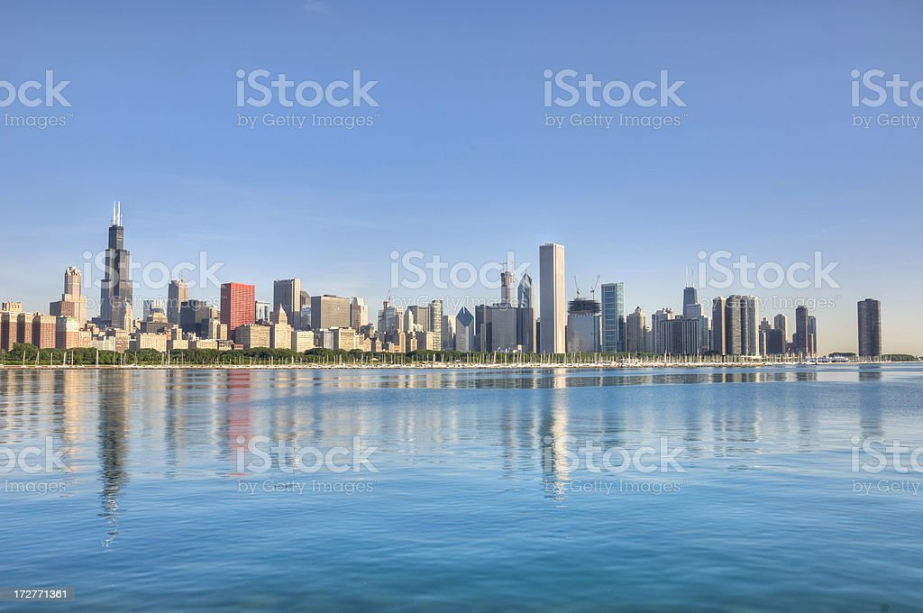 Chicago Skyline in the Morning royalty-free stock photo