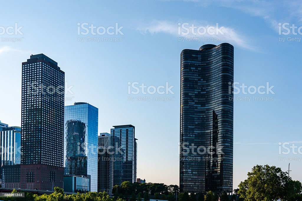 Chicago Skyline Lake Point Tower stock photo