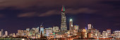 istock Chicago Skyline Panorama with Holiday Lights 1192418838