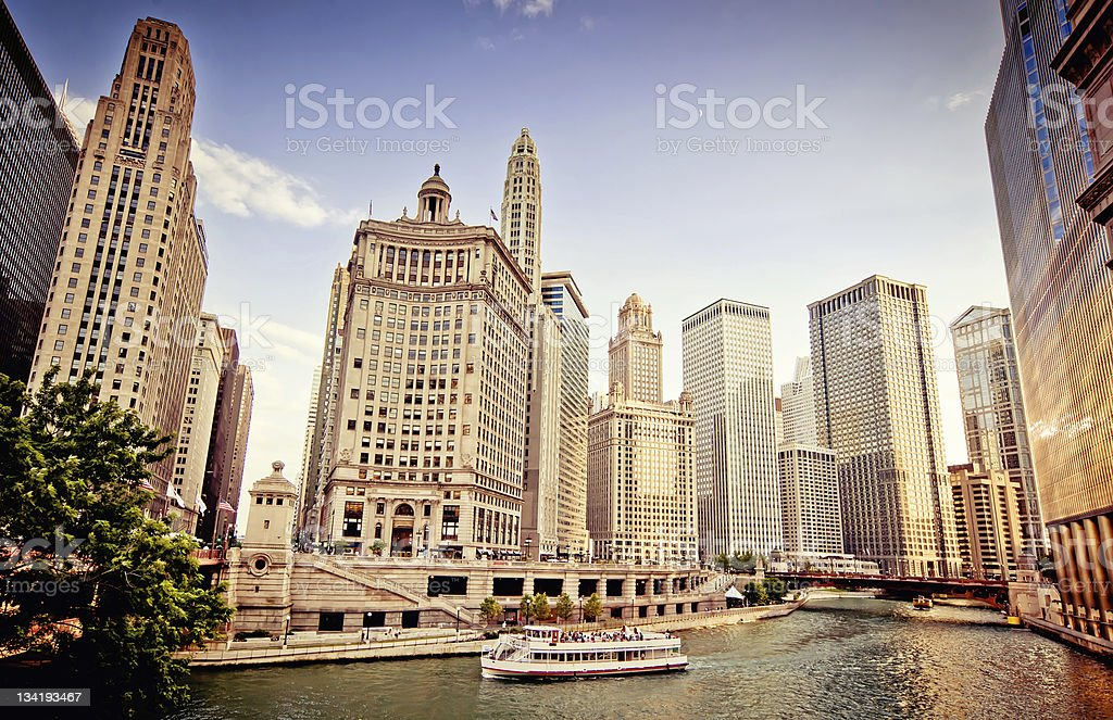 Chicago skyline stock photo