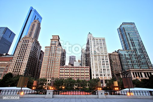 istock Chicago Skyline View from the Millennium Park 985239058