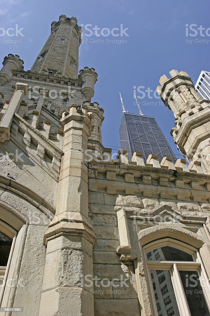 Chicago skyline, Water Tower royalty-free stock photo