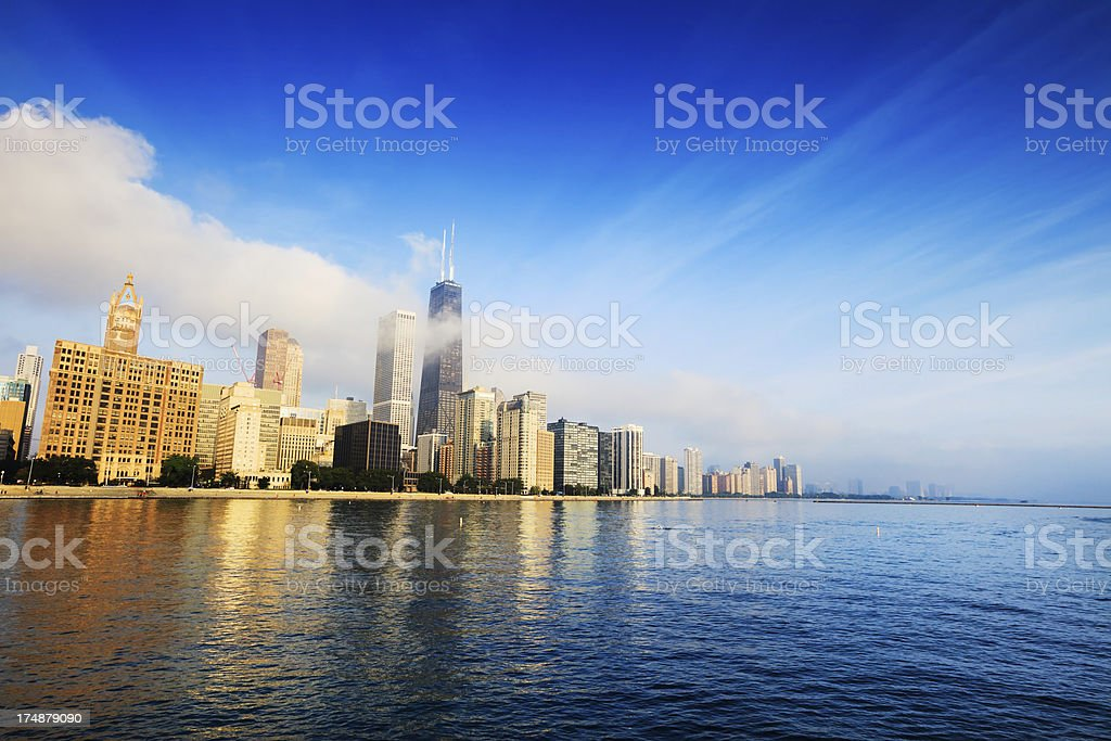 Chicago Skyscrapers enveloped in Fog royalty-free stock photo
