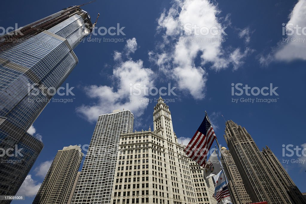 Chicago Skyscrapers from Below royalty-free stock photo