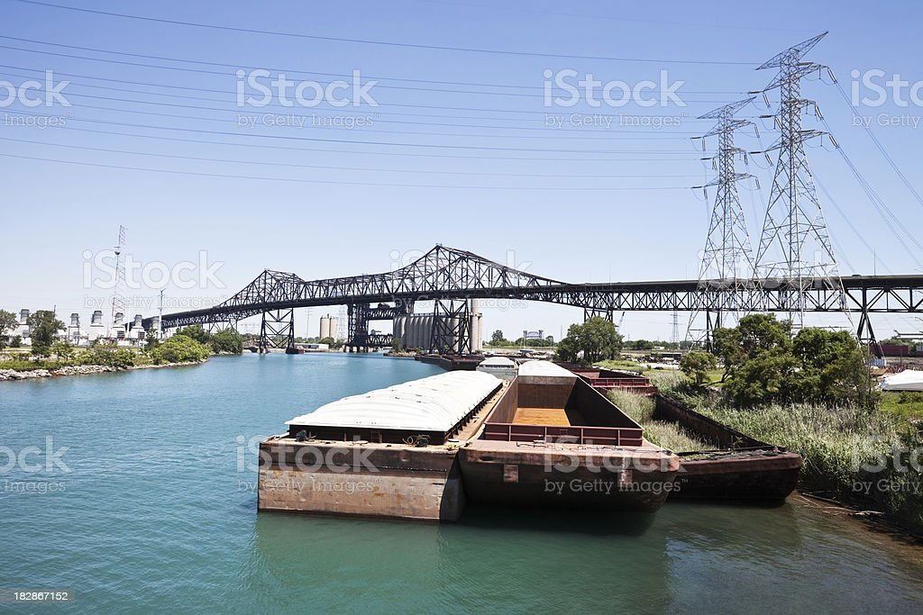 Chicago Skyway Across The Calumet River Stock Photo