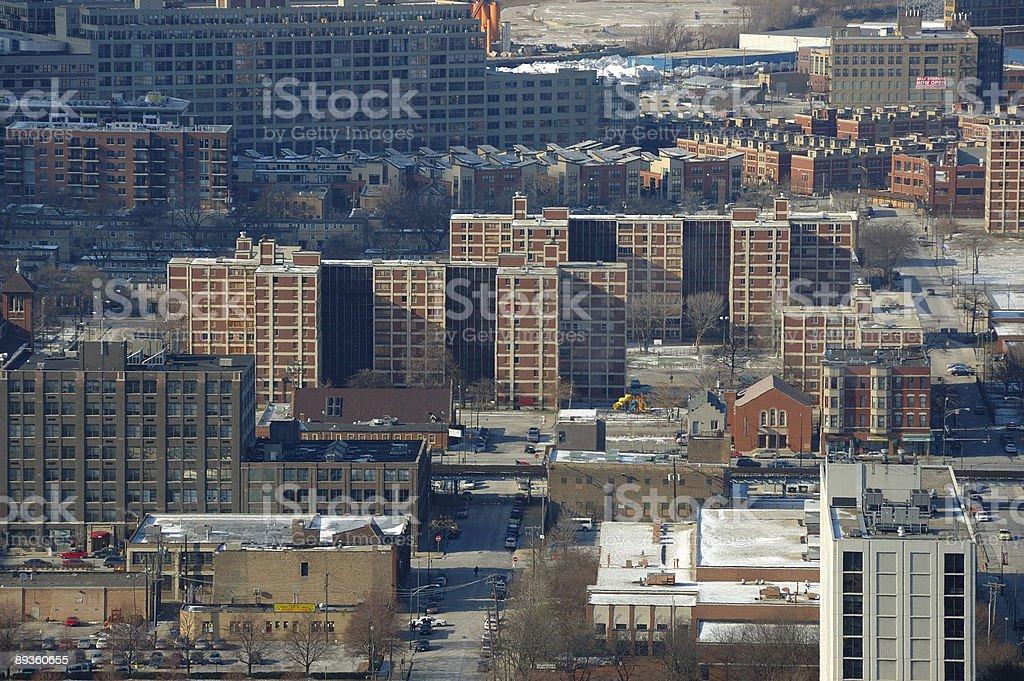 Chicago social housing royalty free stockfoto