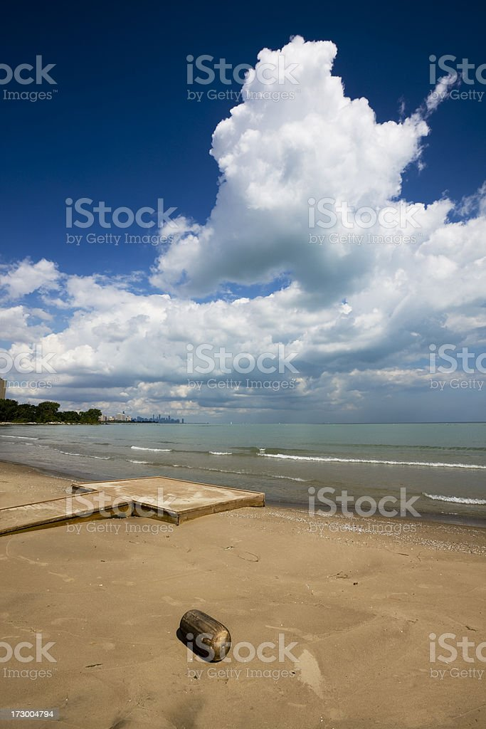 Chicago South Shore Beach with Float royalty-free stock photo