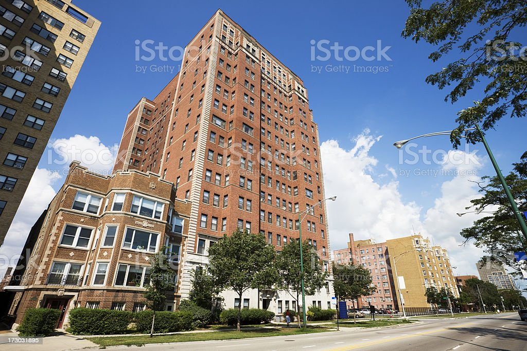 Chicago South Shore Drive Apartments royalty-free stock photo
