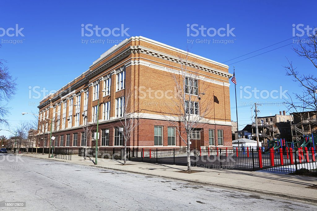 Chicago South Side School royalty-free stock photo