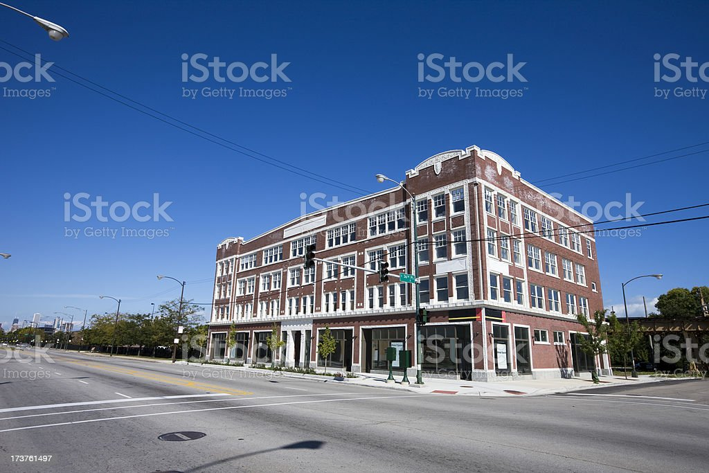 Chicago South Side Vintage Shops royalty-free stock photo