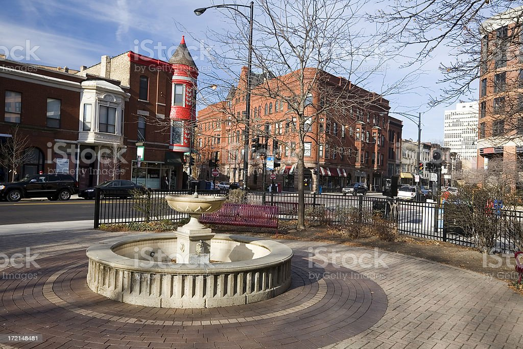 Chicago Street Scene royalty-free stock photo