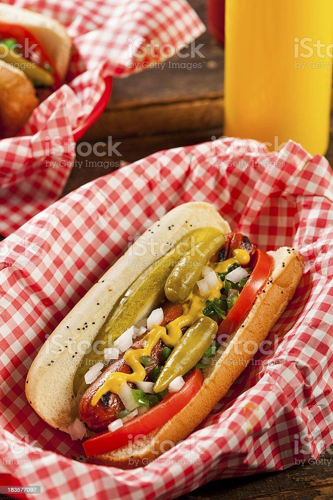 Chicago Style Hot Dog royalty-free stock photo