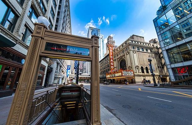 Chicago Subway and Theatre stock photo