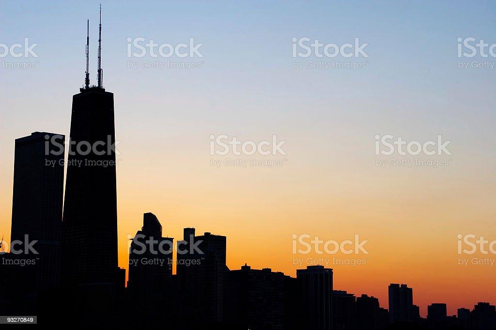Chicago Sunset royalty-free stock photo