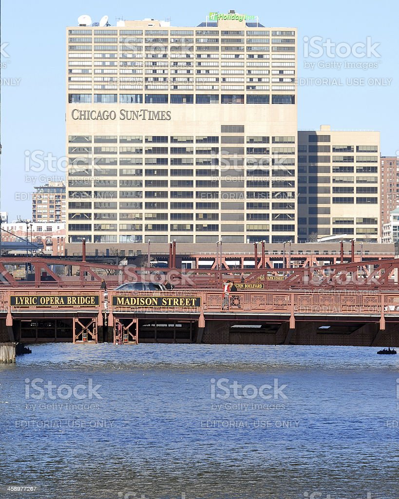 Chicago Sun-Times Building royalty-free stock photo