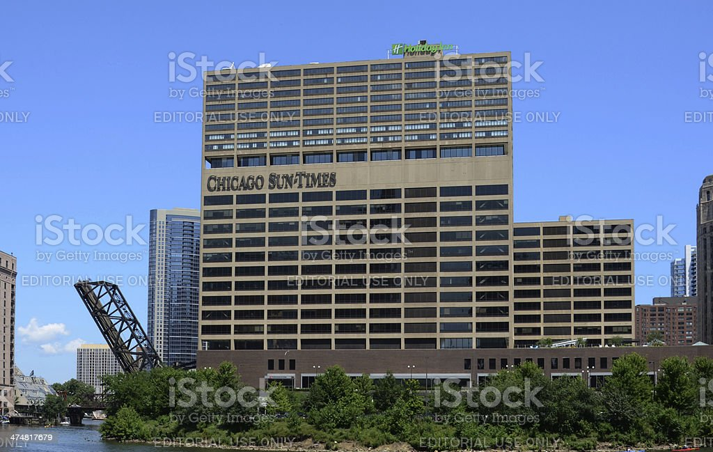 Chicago Sun-Times headquarters, river view stock photo