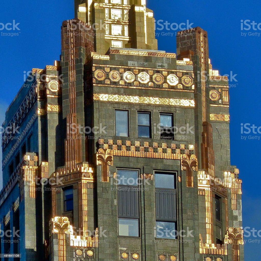 Chicago -The Carbide and Carbon building, Art Deco, Architecture stock photo