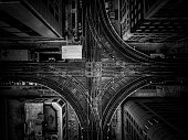 view from above of the Chicago The loop Railway