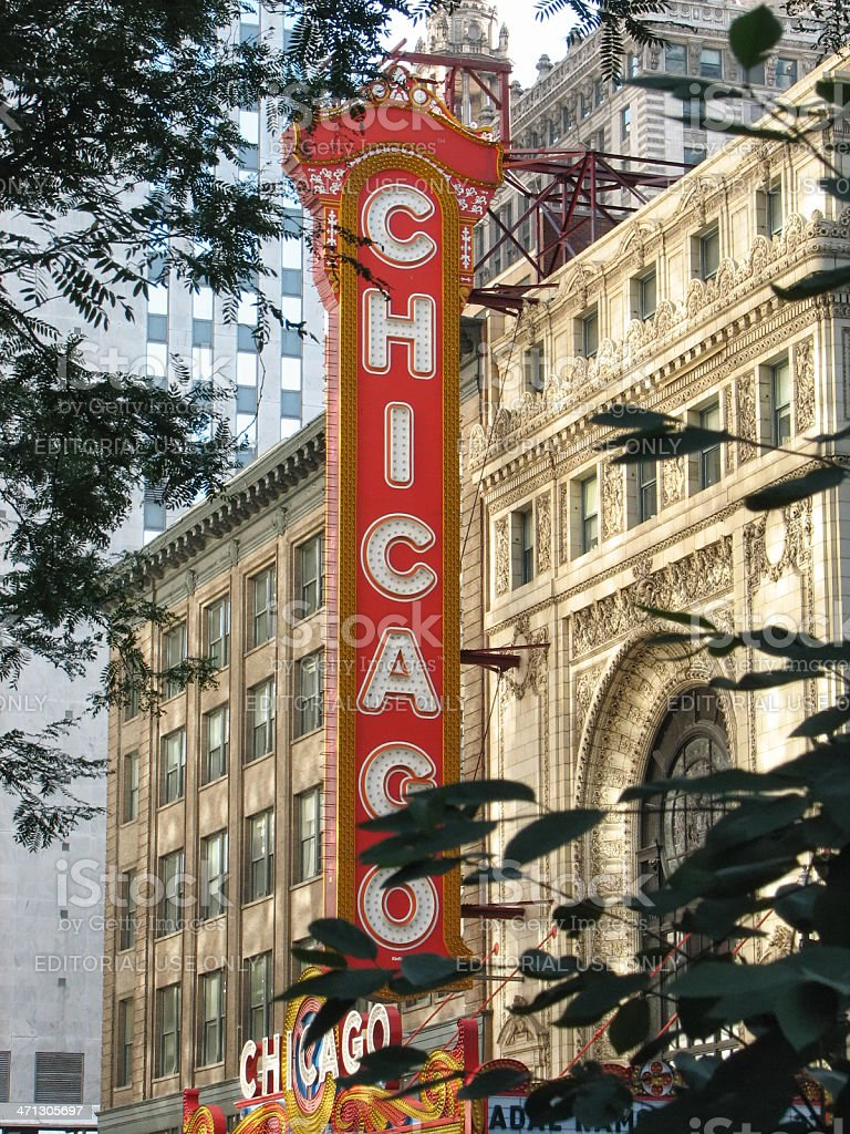 Chicago Theater Marquee stock photo