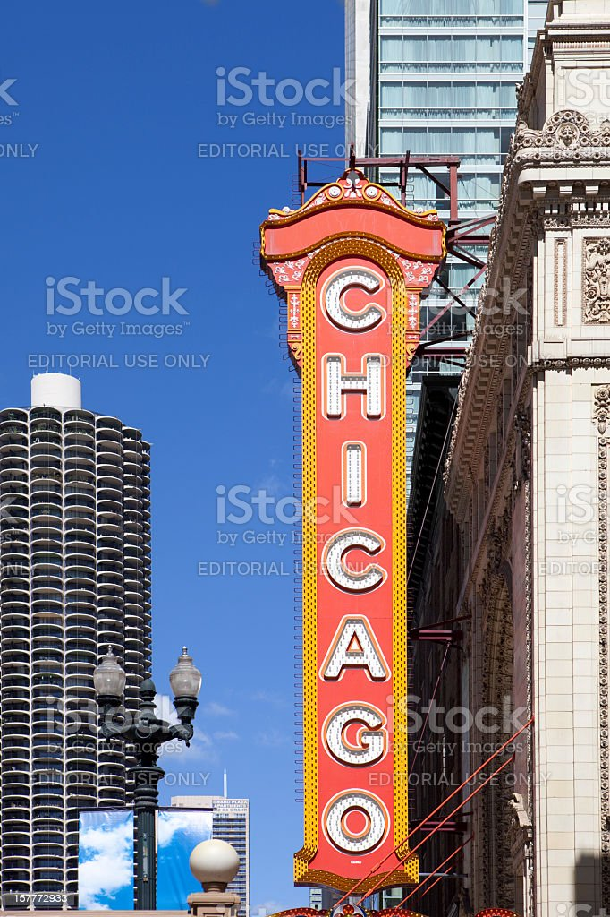 Chicago Theater Sign stock photo