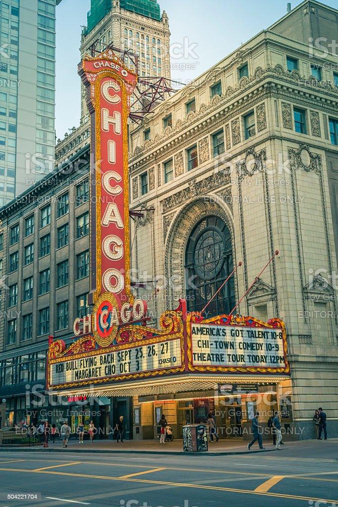 Chicago Theater, USA stock photo
