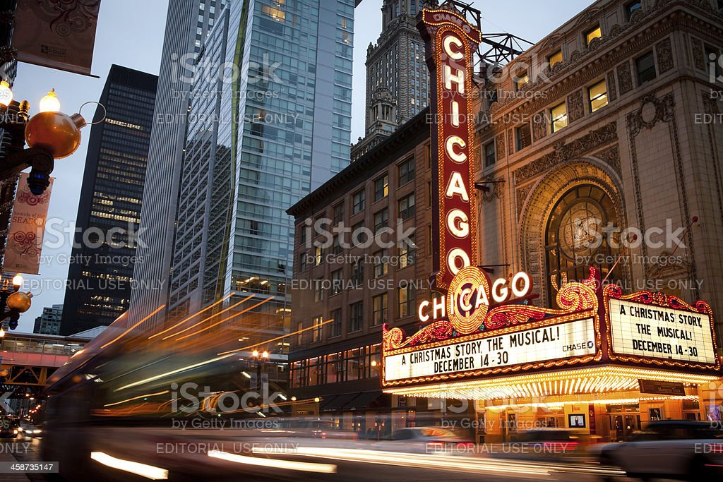 Chicago Theatre royalty-free stock photo