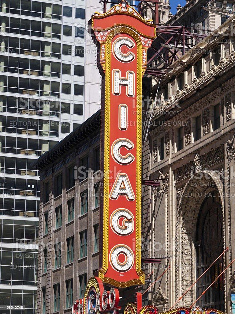 Chicago Theatre Sign stock photo