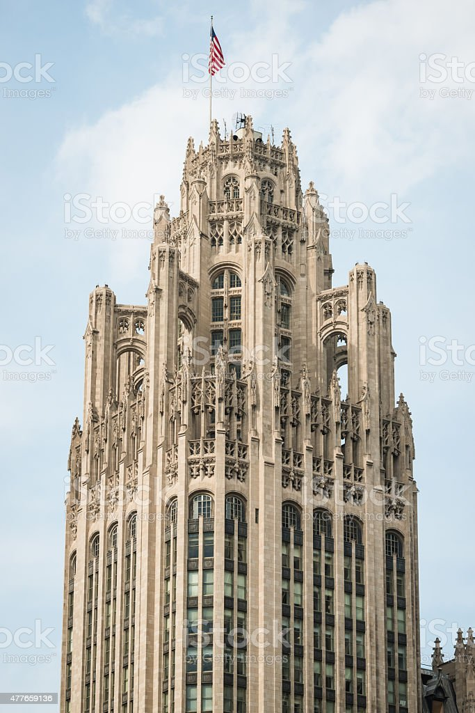 Chicago TImes Building stock photo