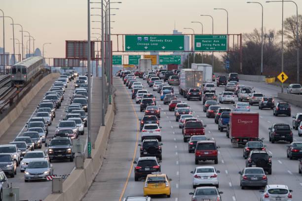 Chicago Traffic stock photo