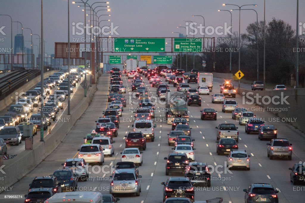 Chicago Traffic stock photo