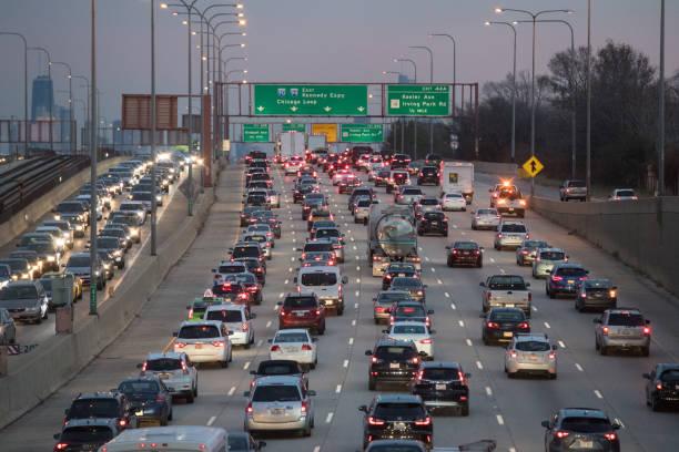 シカゴ交通渋滞 - 交通量 ストックフォトと画像