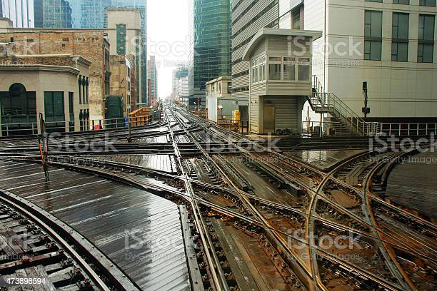Chicago Train X Track N Wells & W Lake Street
