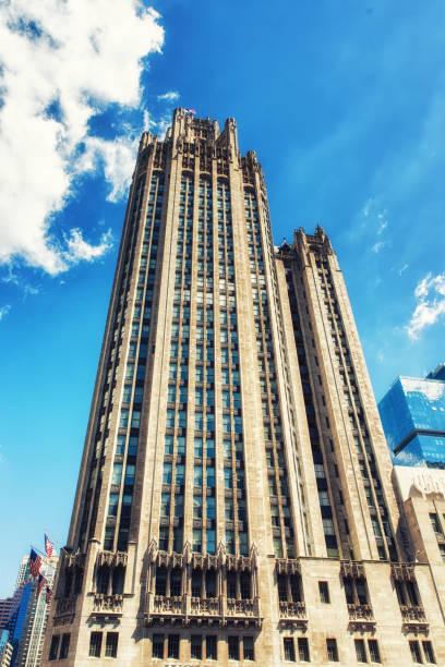 Chicago Tribune Building stock photo