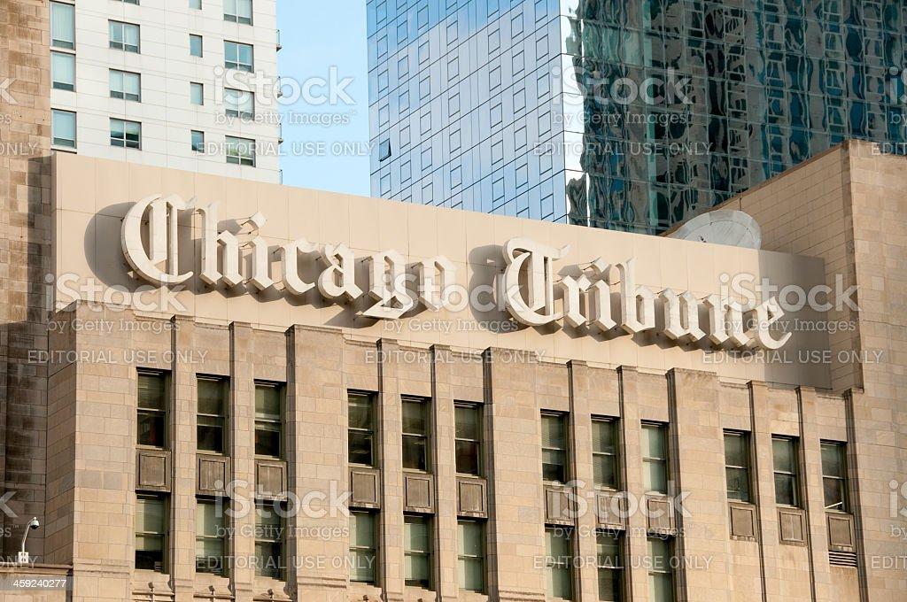 Chicago Tribune Newspaper stock photo